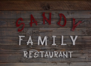 Sandy Family Restaurant Sign